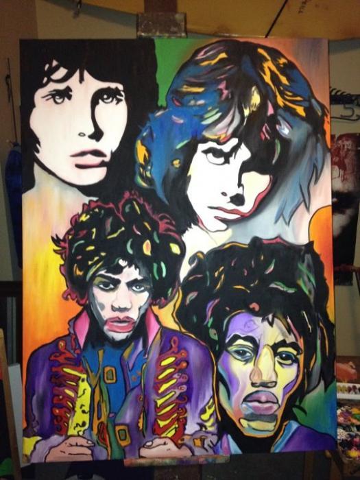 Jimi Hendrix, Jim Morrison par ycromartie